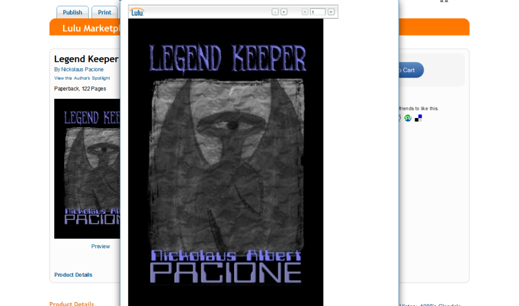 Legend Keeper Front Cover